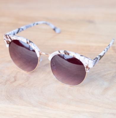 Naples Sunglasses White/Gray