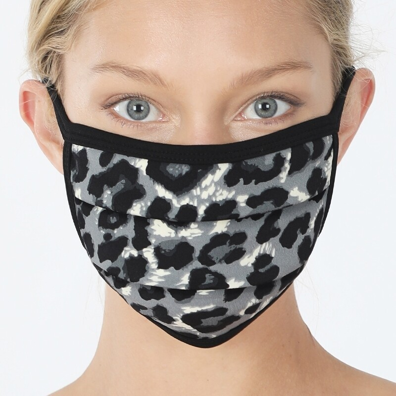 Gray Leopard Mask