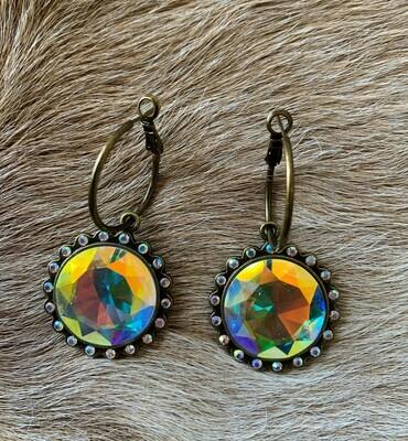Iridescent Earrings Gold