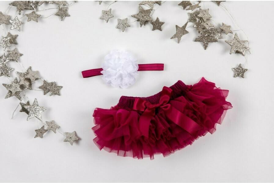 Ruffle Tutu Bloomer & Matching Headband Set