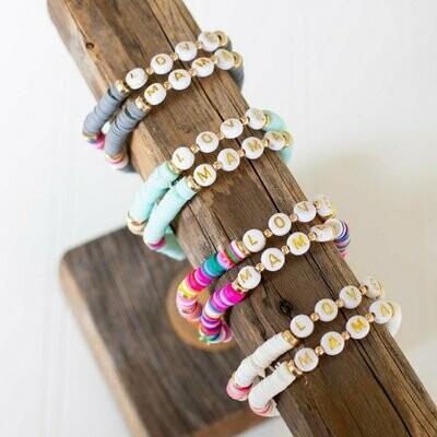 Mama Stretchy Stack Bracelet Set