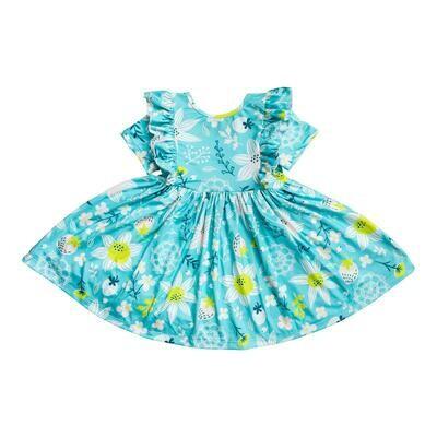 Strawberry Fields Short Sleeve Ruffle Twirl Dress 7/8
