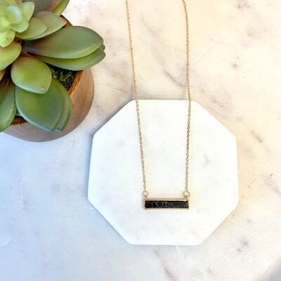 Stone Bar Necklace
