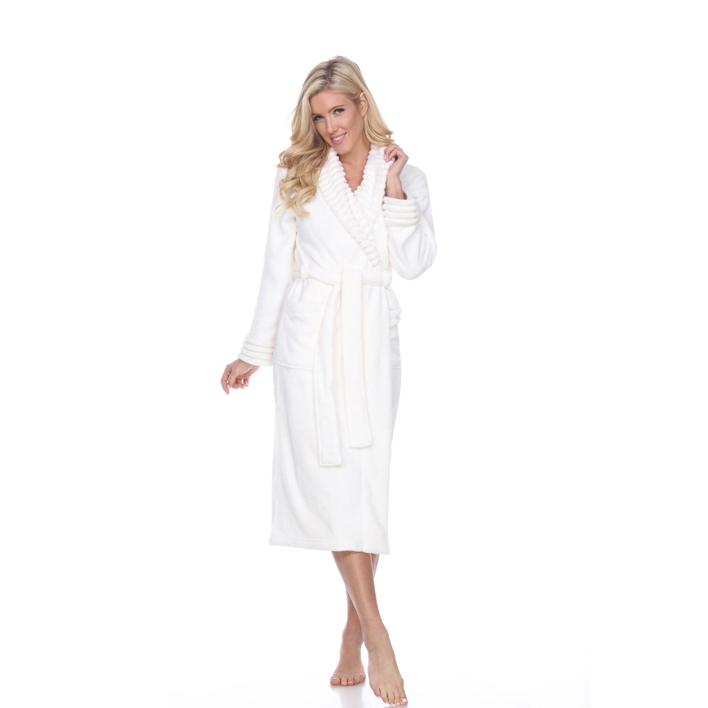 White Super Soft Lounge Robe