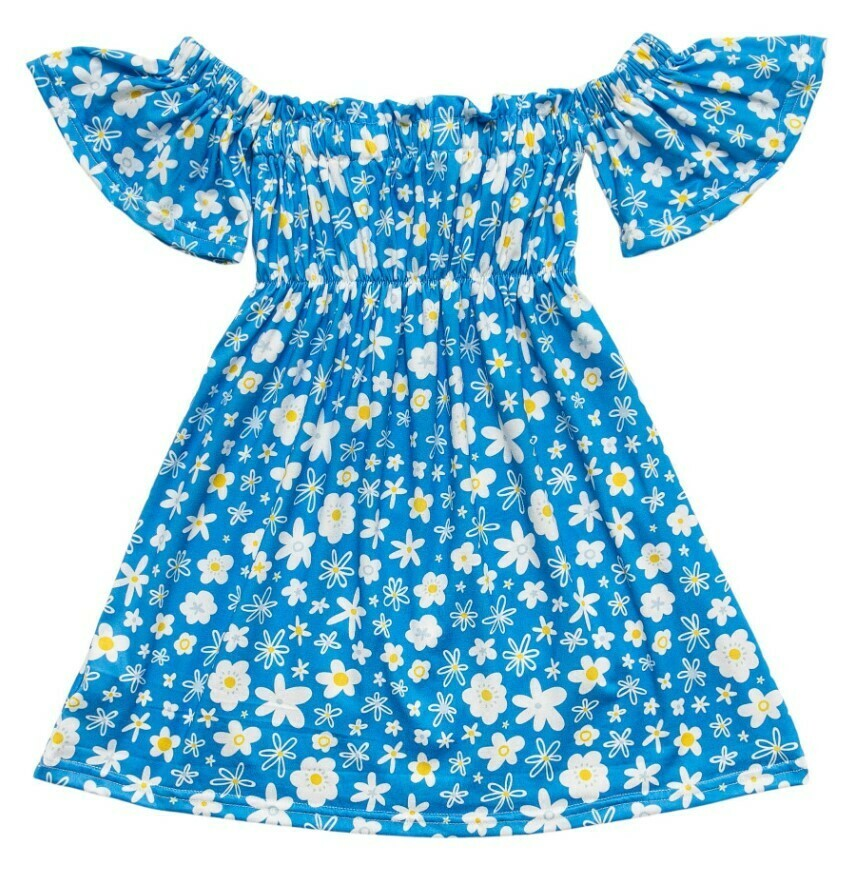 Just Daisy Short Sleeve Ruffle Twirl Dress