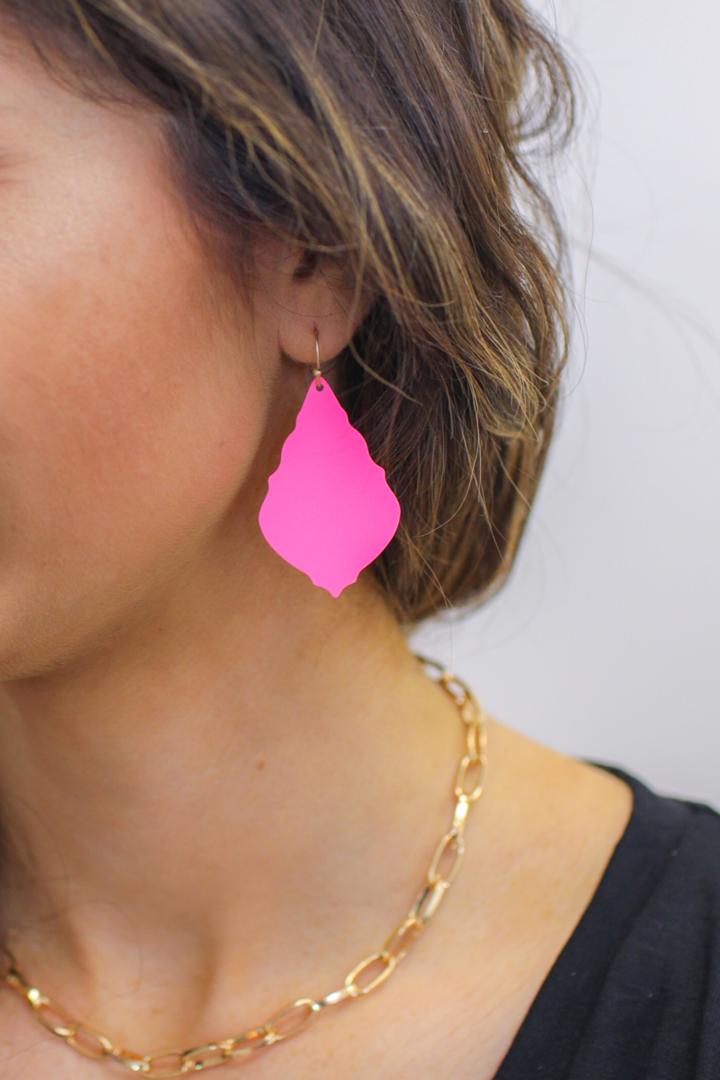 Madden Pink Drop Earrings