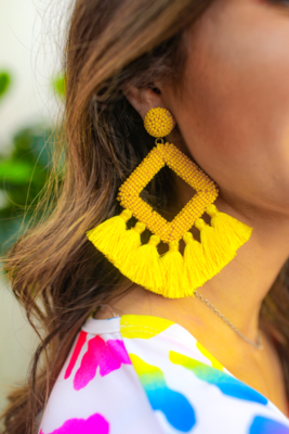 Ellie Fringe Drop Earrings