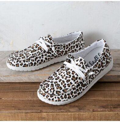 Cheetah White/Tan