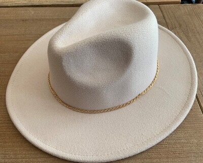 Fedora w/ Gold Hat Band