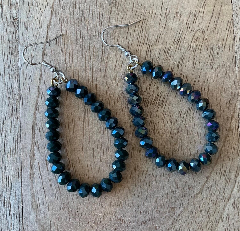 Glass Bead Medium Teardrop Earrings