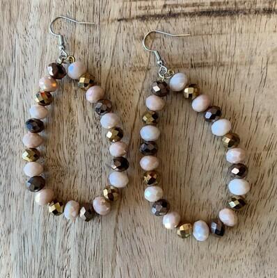 Glass Bead Teardrop Earrings
