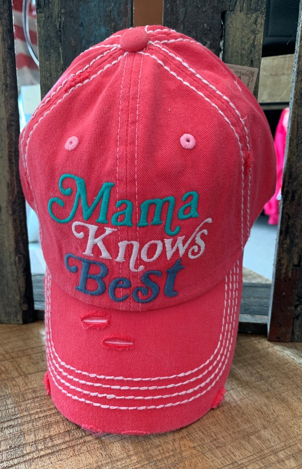 Mama Knows Best Embroidered Cap