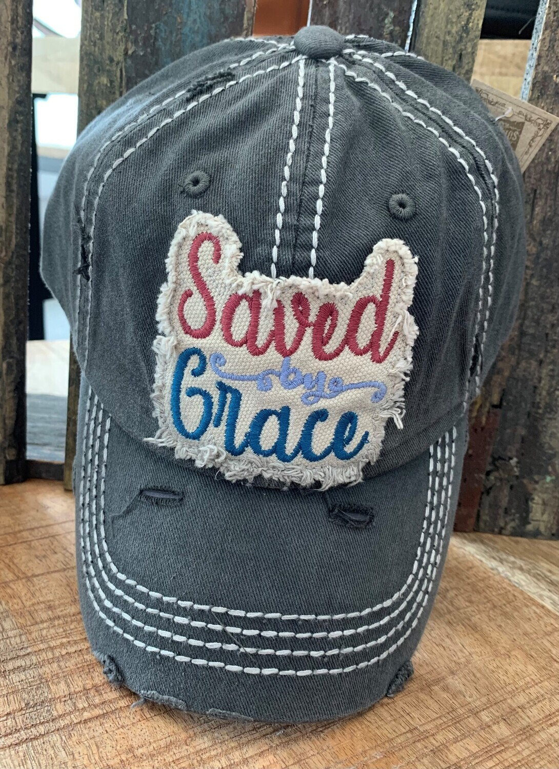 Saved by Grace Patch Hat