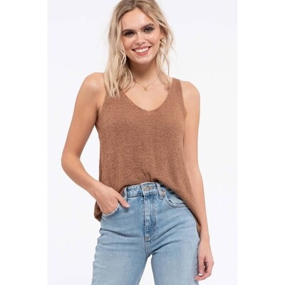 Solid Knit Pullover Tan