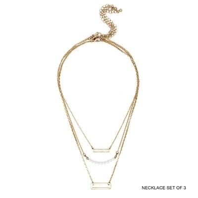 Gold, Pearl, Bar Charm