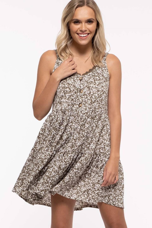 Floral Tiered Mini Dress