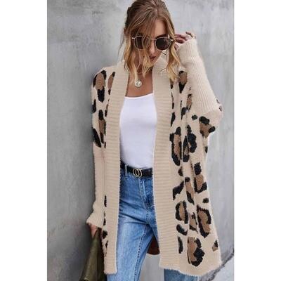 Leopard Printing Sweater Cardigan