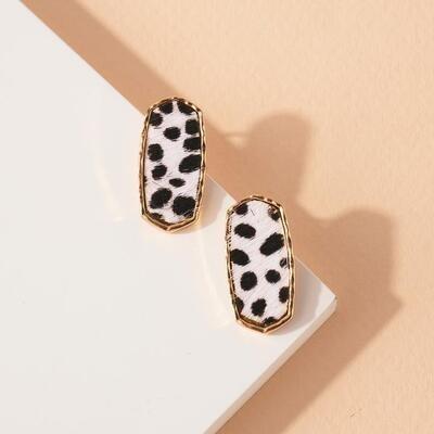 Hexagon Animal Post Earrings