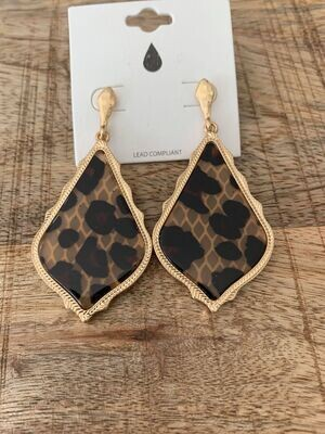 Leo Rhombus Marbled Earrings