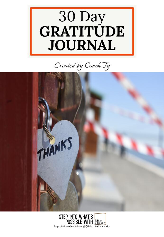 30 Day Gratitude Journal