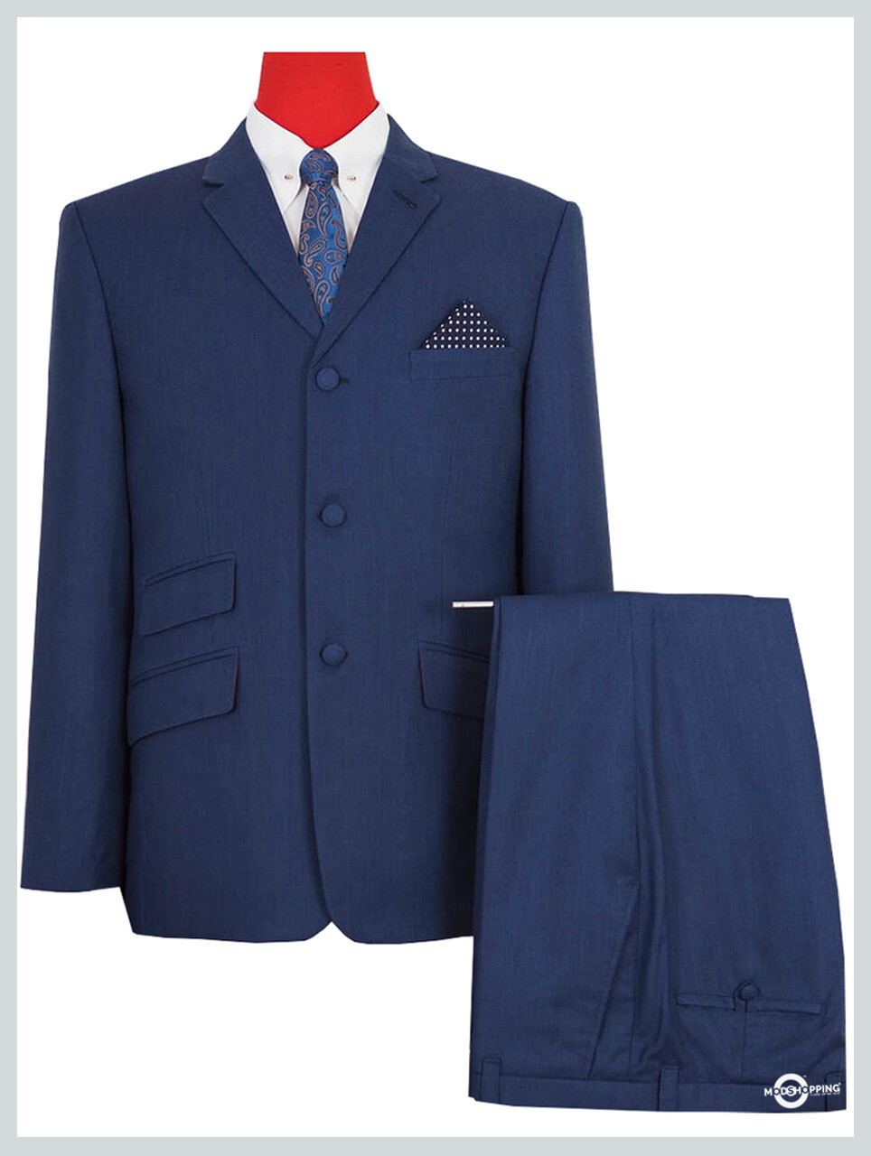 Tailored Made Original 60s Mod Classic Navy Suit