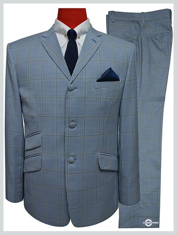 mod clothing 60s mod tailored sky blue suit