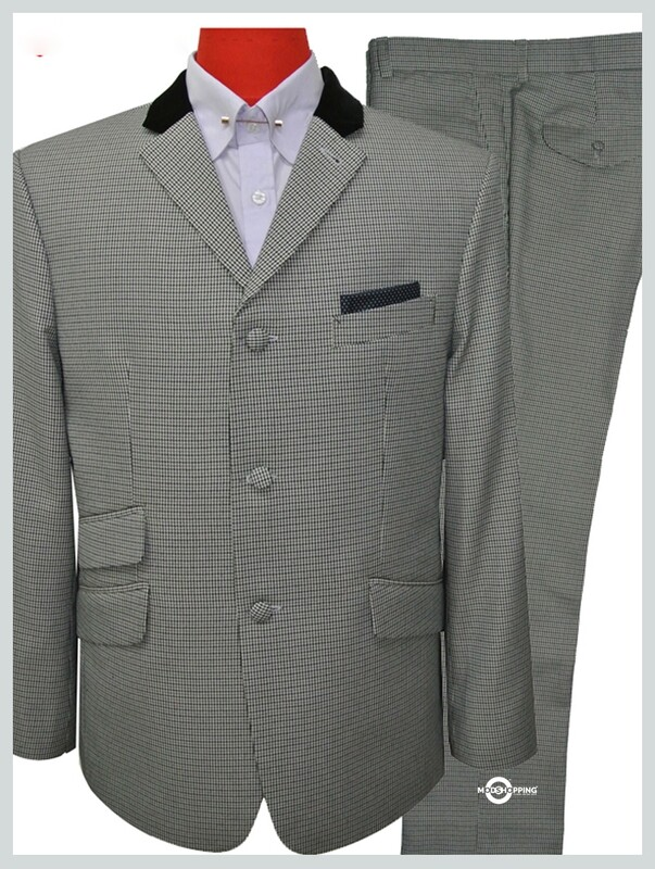 Classic Light Grey Houndtooth Suit
