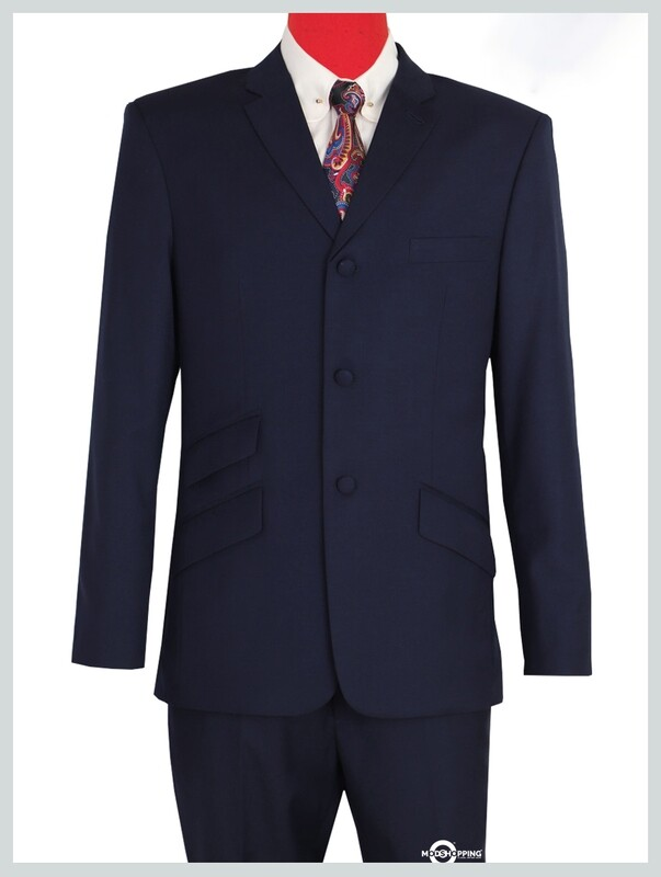 mod suit| tailored 60s style dark navy blue mod suit 3 button