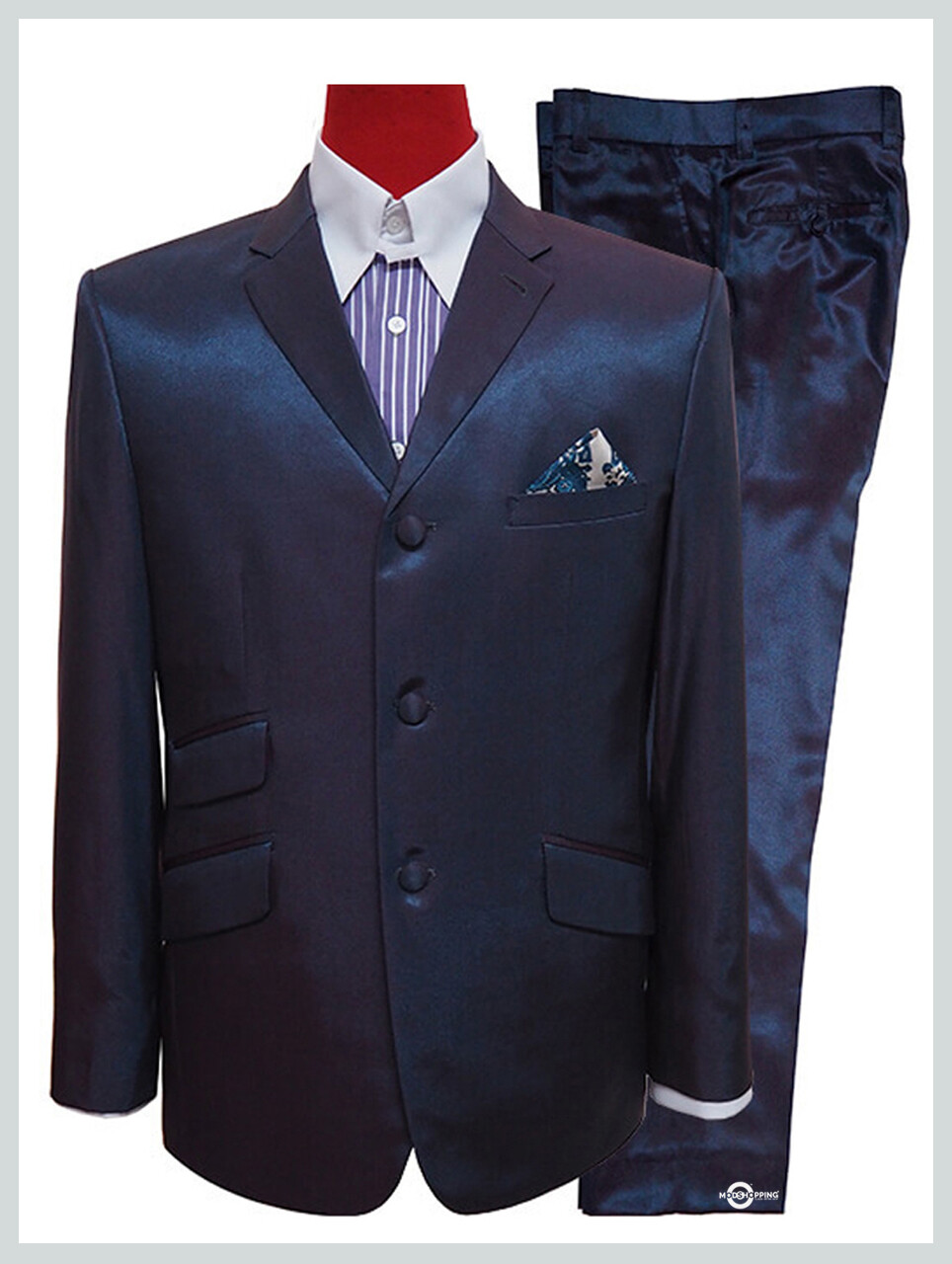 Red & Blue Two Tone Suit For Men's