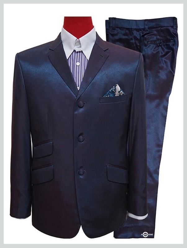 two tone suit,red & blue two tone tonic suit 60s mod style men suit