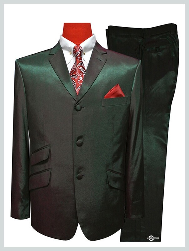Two Tone Suit|Red & Olive Two Tone Tonic Suit,60s Mod Clothing Men