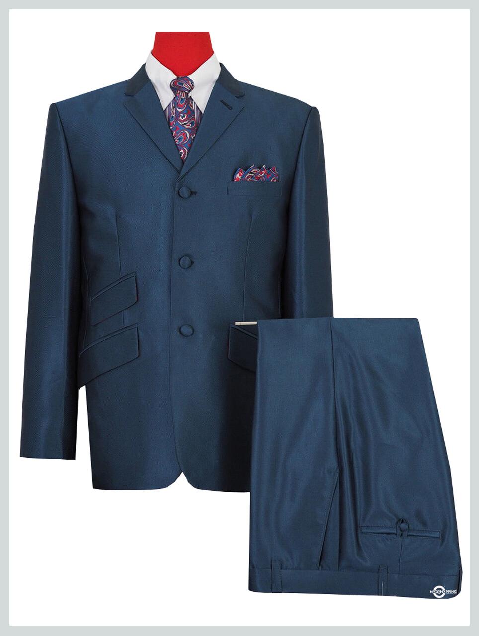tonic suit|tailored mod fashion 60s 3 button peacock blue tonic suit