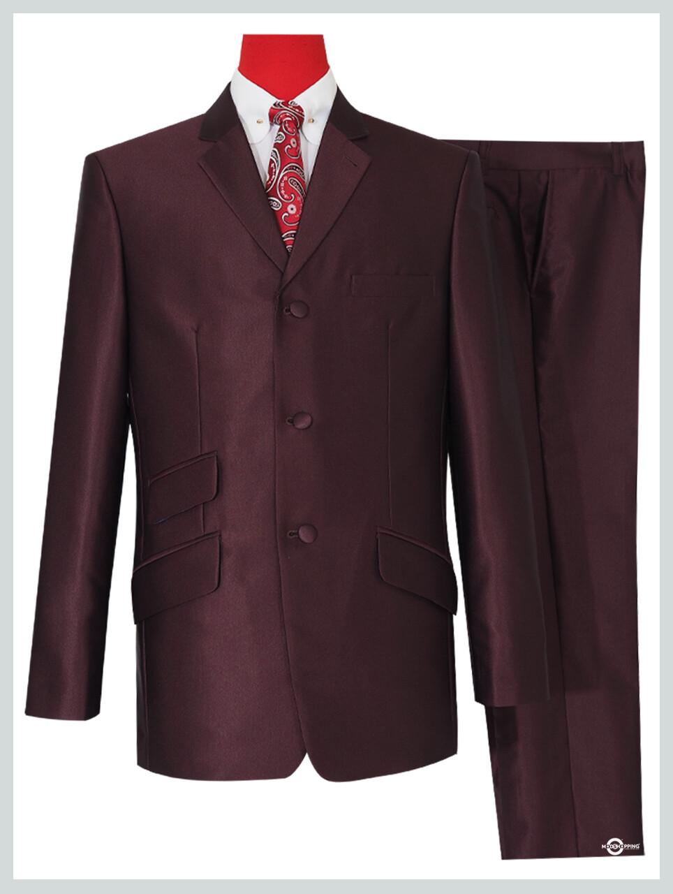 tonic suit 60s| burgundy suit,mod fashion slim fit tailored mod suit