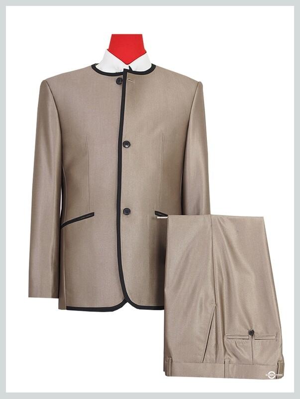 Beatle Collarless Suit | Classic Gold Tonic Suit