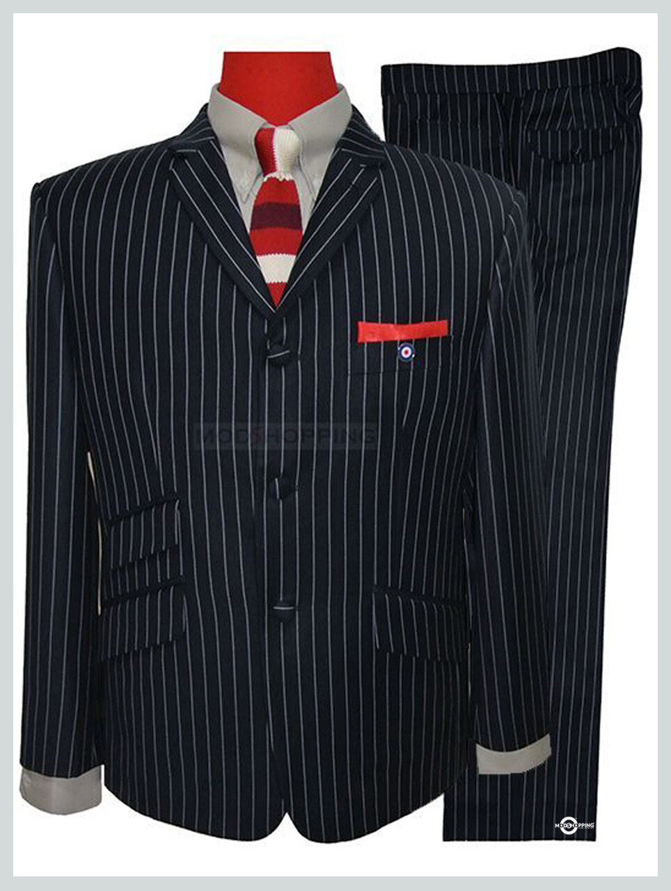 Pinstripe Suit | 60s Fashion Tailored Vintage Mod Suit