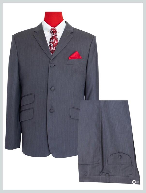 3 Piece Suit| Classic Grey Herringbone 60s Suit