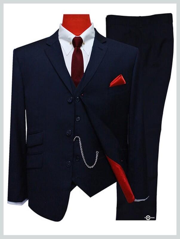 3 Piece Suit | Tailored 60s Mod Dark Navy Blue Suit