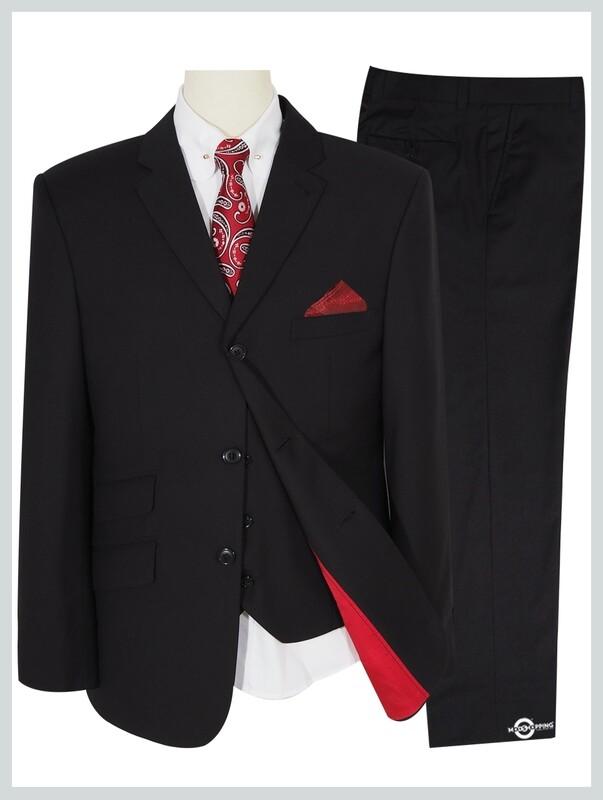 3 Piece Suit | Black Tailored Vintage Style Mod Suit
