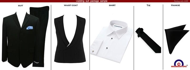 Black Wedding Suit Package