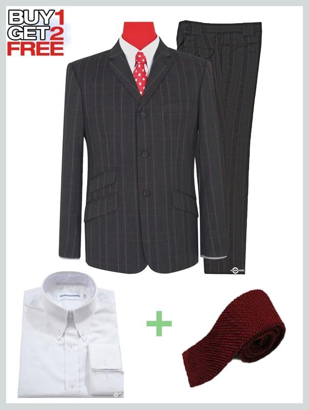 2 Piece Suit Package | Charcoal Grey Colour Check Suit For Man