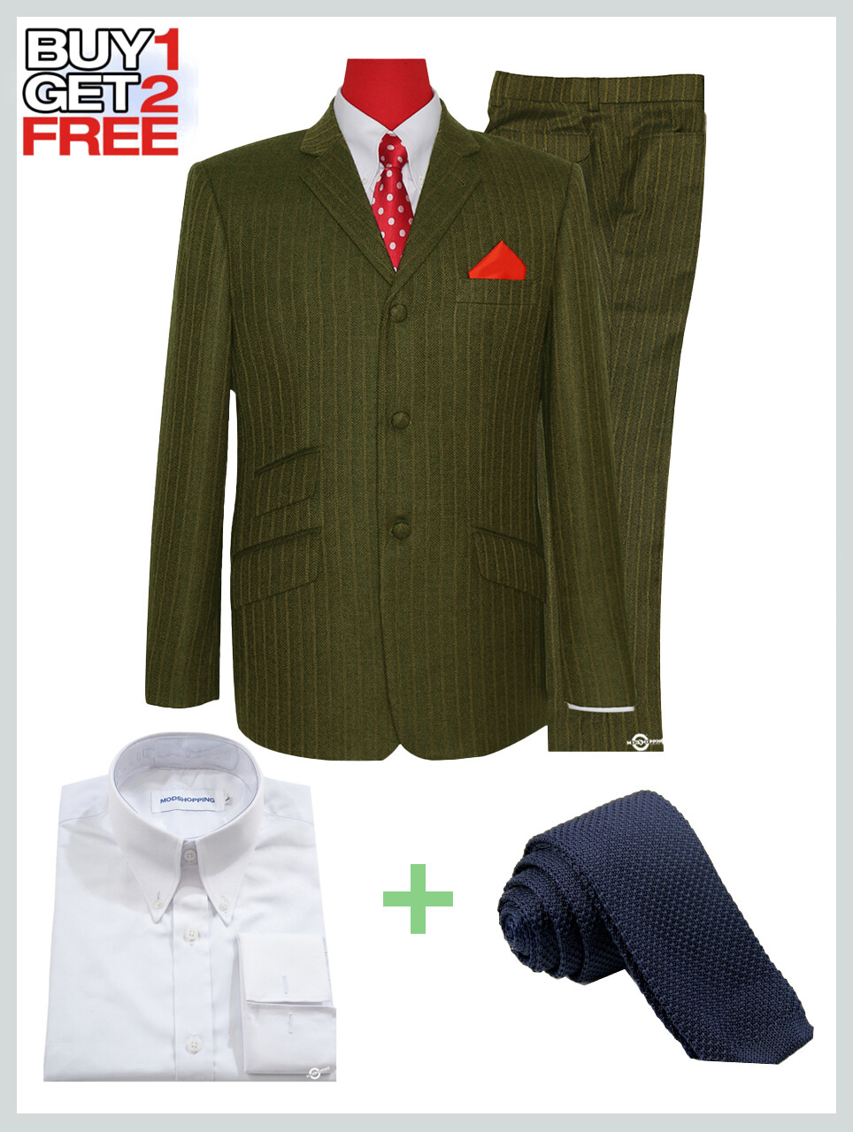 2 Piece Suit Package | Tobacco Herring Bone Suit For Man