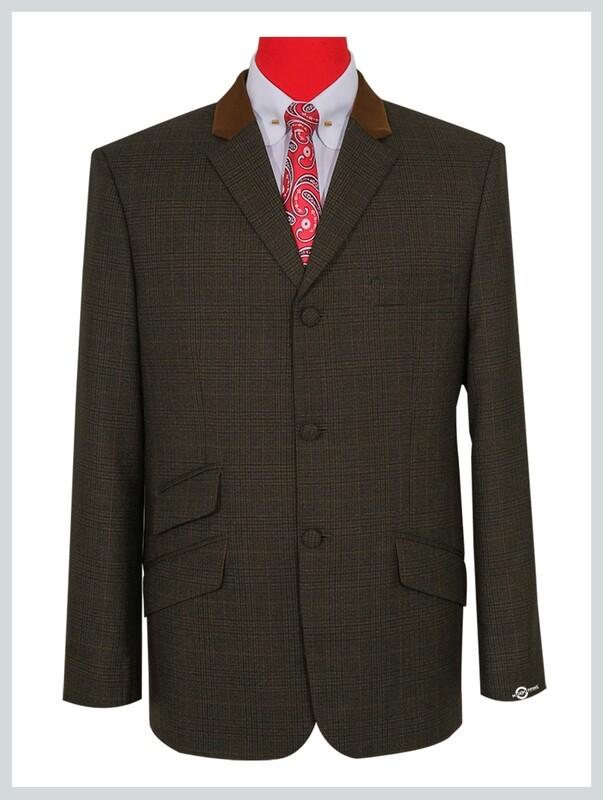 Dark Brown Tweed Pow Check Jacket
