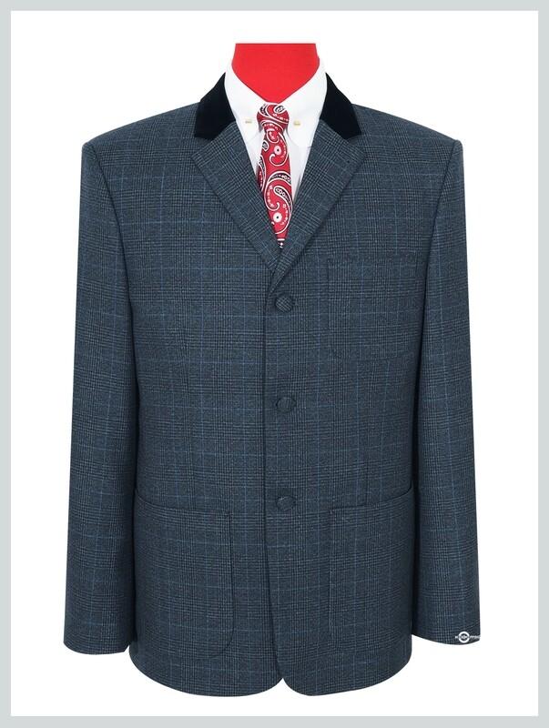 Charcoal Grey Tweed Pow Jacket Patch Pocket