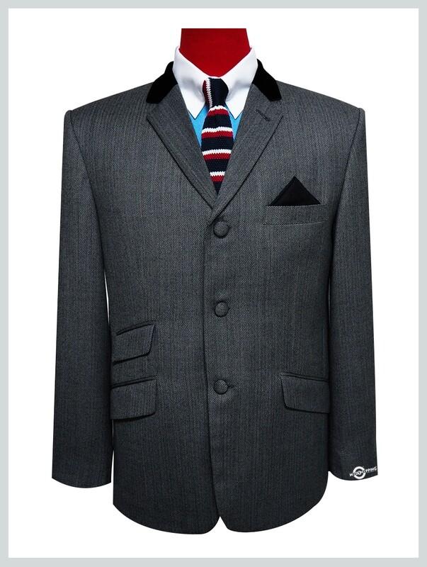 mod blazer 60s herringbone grey mod blazer jacket for men.