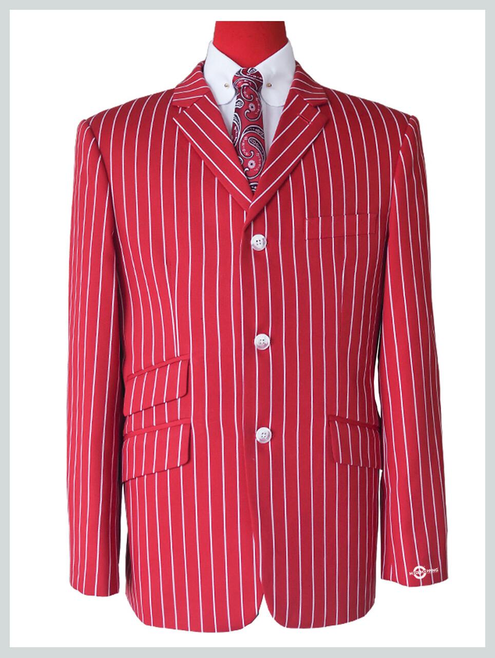 60s Vintage Style Red Striped Blazer