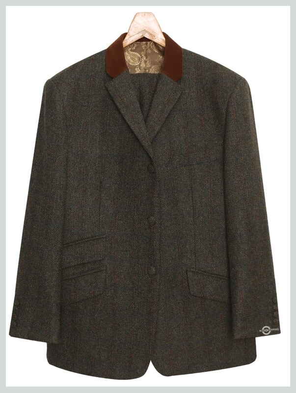 Tweed Jacket   Army Green Herringbone Jacket