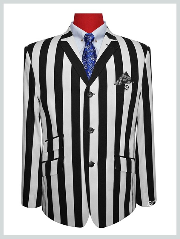Boating Blazer, Black With White Striped For Man