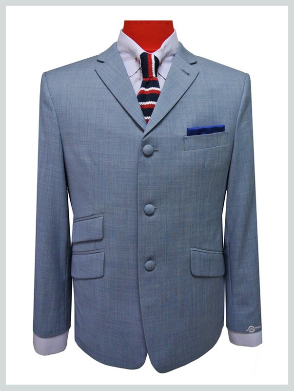 Summer Jacket | 60s Tailored 3 Button Sky Summer Jacket For Men
