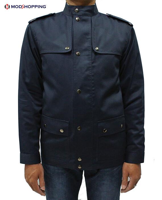 Vintage Navy Blue Scooter Jacket