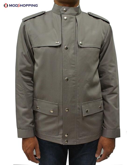 Vintage Dim Grey Scooter Jacket